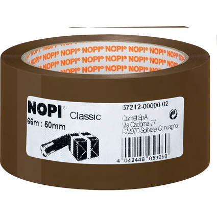 NOPI Verpackungsklebeband Classic, 50mm x 66m, braun