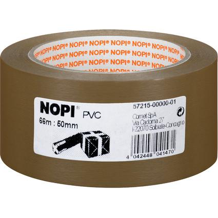 NOPI Verpackungsklebeband aus PVC, 50 mm x 66 m, braun
