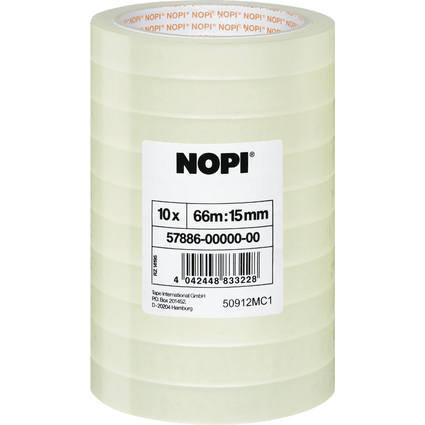 NOPI Klebefilm Shrink Tower, transparent, 15 mm x 66 m