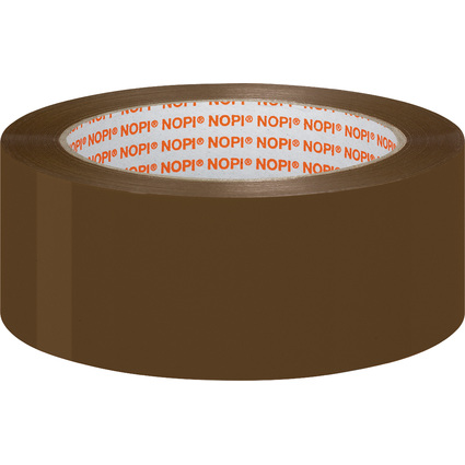 NOPI Verpackungsklebeband Universal, 38 mm x 66 m, braun