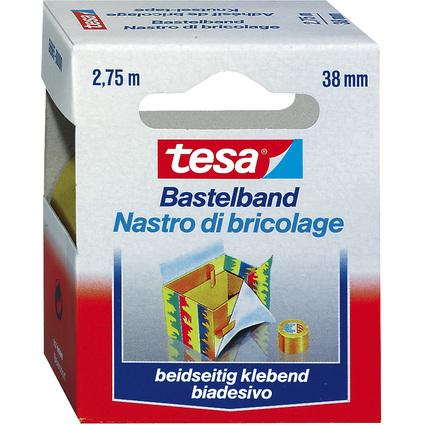 tesa Bastelband, doppelseitiges Klebeband, 38 mm x 2,75 m