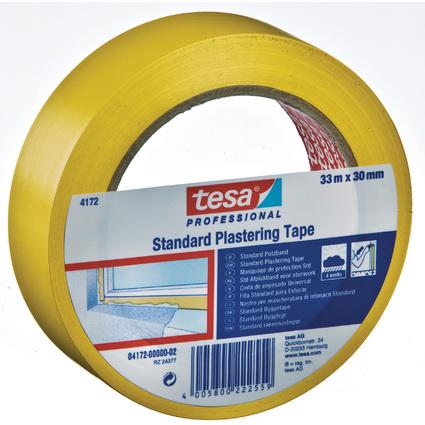 tesa Putzband 4172 Standard, glatt, 30 mm x 33 m, gelb