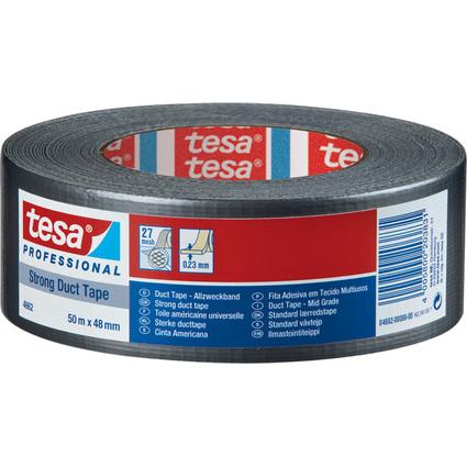 tesa Gewebeband 4662, 48 mm x 50 m, silber matt