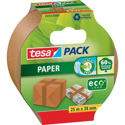 tesapack PAPER ecoLogo Verpackungsklebeband, 38 mm x 25 m