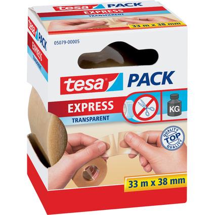 """tesapack Verpackungsklebeband Express """"von Hand einreißbar"""""""