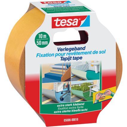 tesa Verlegeband extra stark klebend, braun, 50 mm x 10 m