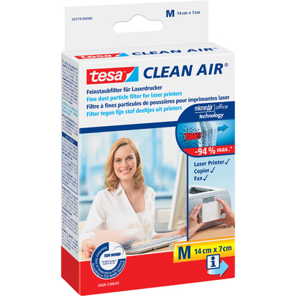 """tesa Feinstaubfilter """"CLEAN AIR"""", Größe M, Maße: 140 x 70 mm"""