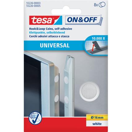 tesa On & Off Klettpunkte, Durchmesser: 16 mm, weiß
