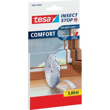 tesa Fliegengitter-Klettband-Ersatzrolle, weiß, 5,6 m