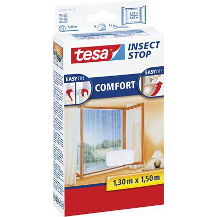 tesa Fliegengitter COMFORT für Fenster, 1,30 x 1,50 m