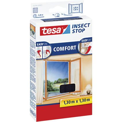 tesa Fliegengitter COMFORT für Fenster, 1,30 m x 1,30 m