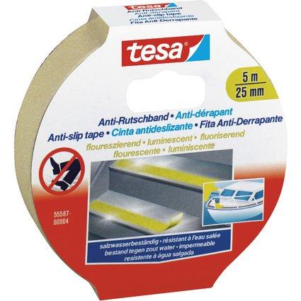 tesa Anti-Rutschband, 25 mm x 5,0 m, fluoreszierend