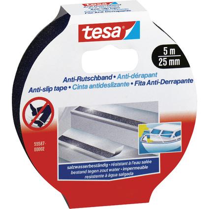 tesa Anti-Rutschband, 25 mm x 5,0 m, schwarz