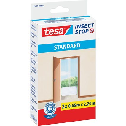 tesa Fliegengitter STANDARD für Türen, 2 x je 0,65 m x 2,20m