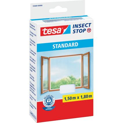 tesa Fliegengitter STANDARD für Fenster, 1,50 m x 1,80 m