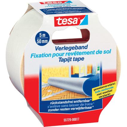 tesa Verlegeband, rückstandsfrei entfernbar, 50 mm x 5 m
