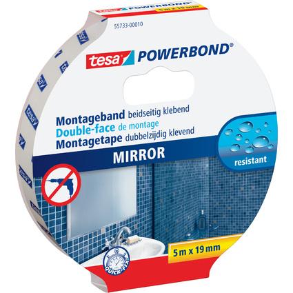 tesa Powerbond Montageband für Spiegel, 19 mm x 5,0 m