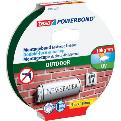 tesa Powerbond Montageband OUTDOOR, 19 mm x 5,0 m