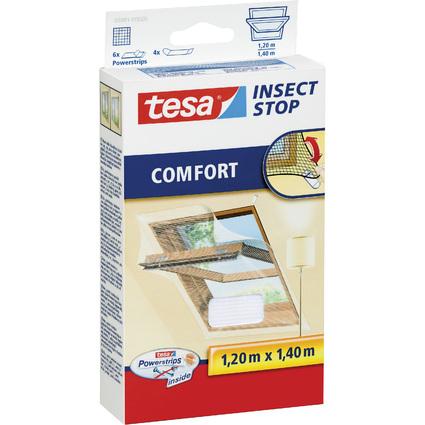 tesa Fliegengitter COMFORT für Dachfenster, 1,20 x 1,40 m
