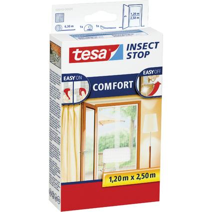 tesa Fliegengitter COMFORT für Türen, 2 x je 0,65 m x 2,50 m