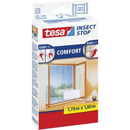 tesa Fliegengitter COMFORT für Fenster, 1,70 m x 1,80 m