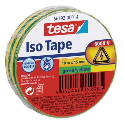 tesa Isolierband ISO TAPE, 15 mm x 10 m, grün / gelb