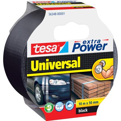 tesa Folienband extra Power Universal, 50 mm x 10 m, schwarz