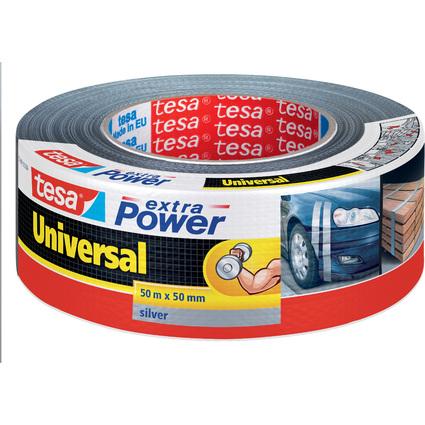 tesa Folienband extra Power Universal, 48 mm x 50 m, silber