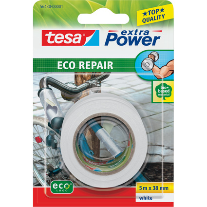 tesa ecoLogo Gewebeband Extra Power Repair, 38 mm x 5 m
