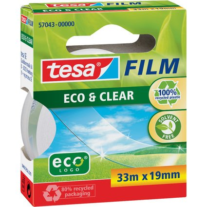 tesa Film Eco & Clear, transparent, 19 mm x 33 m