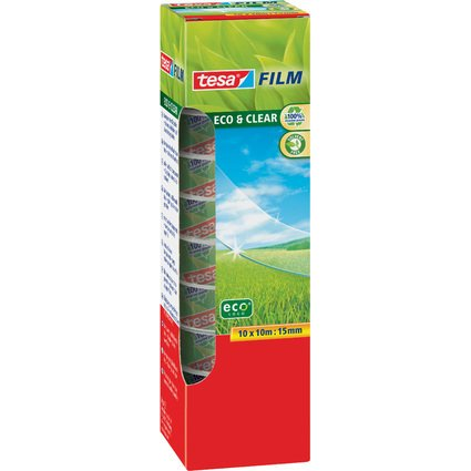 tesa Film Eco & Clear, transparent, 15 mm x 10 m