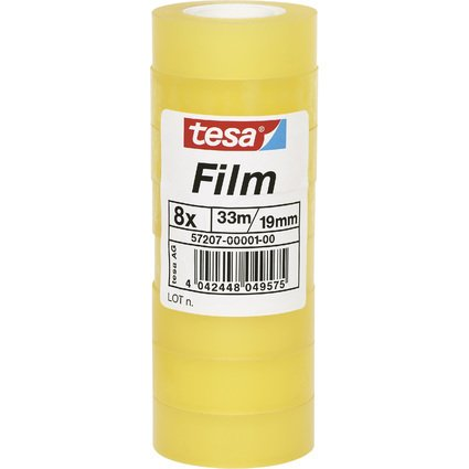 tesa Film standard, transparent, 19 mm x 33 m