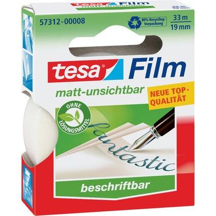 tesa Film, matt-unsichtbar, 19 mm x 33 m