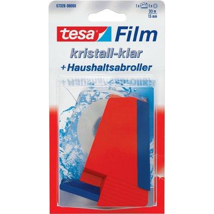 tesa Film & Haushaltsabroller im Set, Film kristall-klar