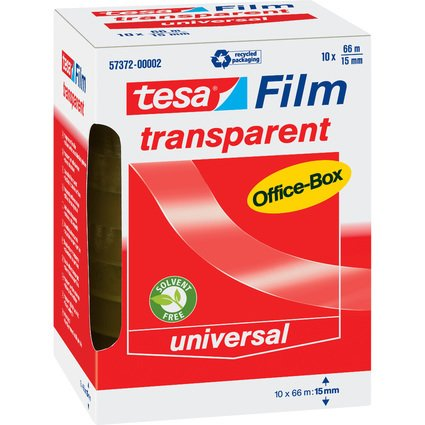 tesa Film, transparent, 15 mm x 66 m