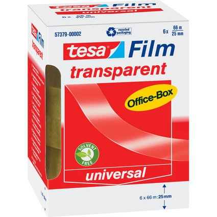 tesa Film, transparent, 25 mm x 66 m