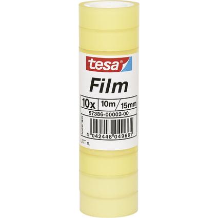 tesa Film standard, transparent, 15 mm x 10 m