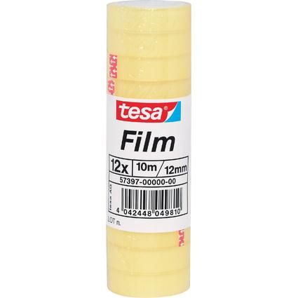 tesa Film standard, transparent, 12 mm x 10 m