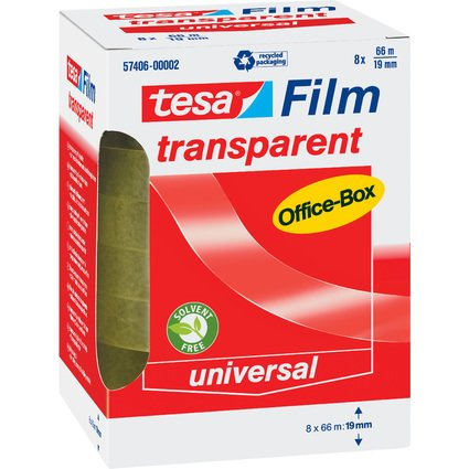 tesa Film, transparent, 19 mm x 66 m