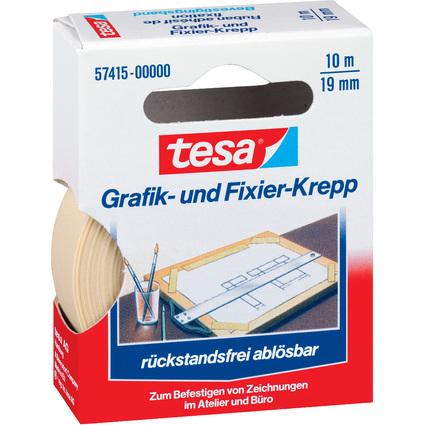 tesa Grafik- und Fixierkreppband, 19 mm x 10 m