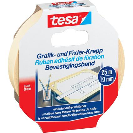 tesa Grafik- und Fixierkreppband, 19 mm x 25 m