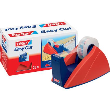 tesa Tischabroller Easy Cut, rot / blau, unbestückt