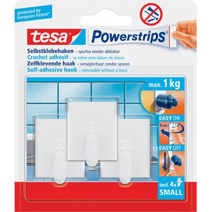 tesa Powerstrips Haken SMALL Rechteck, weiß