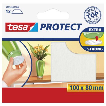tesa Protect Filzgleiter, weiß, Maße: 100 x 80 mm