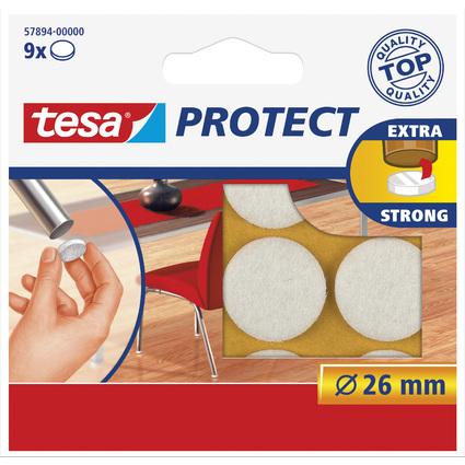 tesa Protect Filzgleiter, weiß, Durchmesser: 26 mm