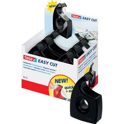 tesa Easy Cut Handabroller, schwarz, unbestückt