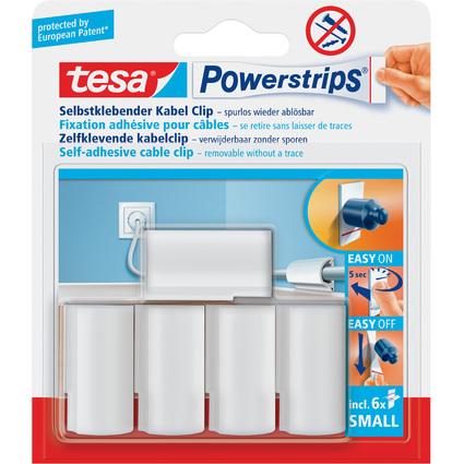 tesa Powerstrips Kabel-Clip, weiß