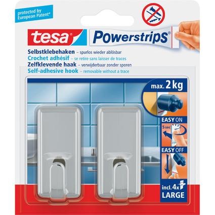 tesa Powerstrips Haken LARGE Classic, chrom