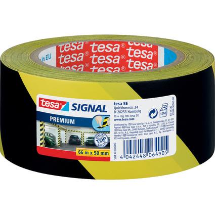 tesa Signal Markierungs- und Warnklebeband Premium, gelb/