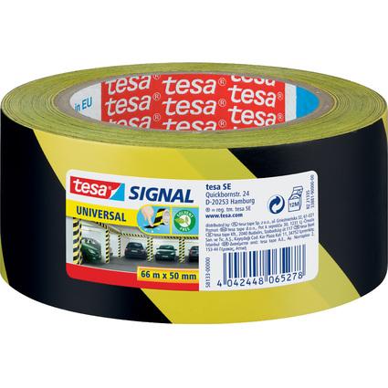 tesa Signal Markierungs- und Warnklebeband Universal, gelb/